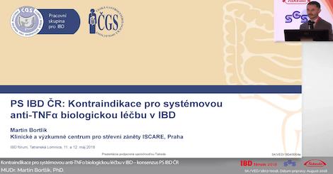 PS IBD ČR: Kontraindikace pro systémovou anti-TNFa biologickou léčbu v IBD