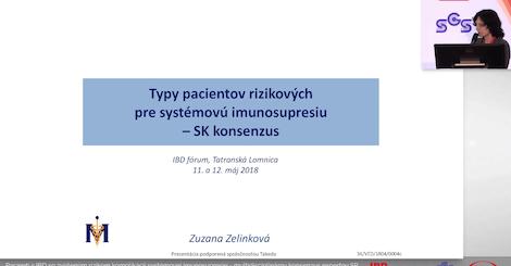 Doc. MUDr. Zuzana Zelinková, PhD.: Typy pacientov rizikových pre systémovú imunosupresiu - SK konsenzus