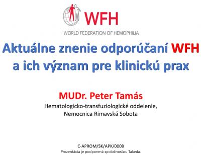 MUDr. Peter Tamás: Aktuálne znenie odporúčaní WFH a ich význam pre klinickú prax